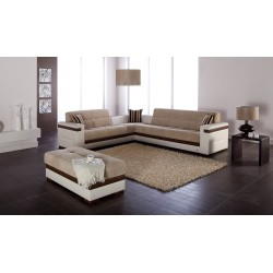MOON SECTIONAL -Platin Mustard