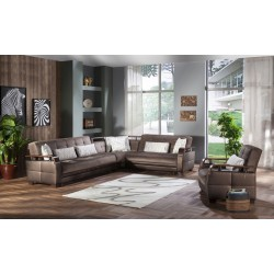 NATURAL SECTIONAL - PRESTIGE BROWN
