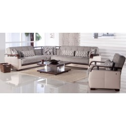 NATURAL SECTIONAL - VALENCIA GRAY